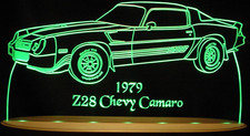 1979 Camaro Z28 Acrylic Lighted Edge Lit LED Sign / Light Up Plaque Full Size USA Original