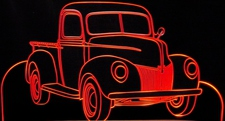 1940 Ford Pickup F100 Truck Acrylic Lighted Edge Lit LED Sign / Light Up Plaque Full Size Made in USA
