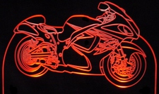 2008 Hayabusa Motorcycle Acrylic Lighted Edge Lit LED Bike Sign / Light Up Plaque