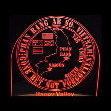 Vietnam Gone But Not Forgotten Phan Rang AB Acrylic Lighted Edge Lit LED Sign / Light Up Plaque Full Size Made in USA