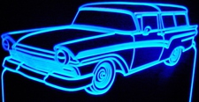 1957 Ford Del Rio Wagon Acrylic Lighted Edge Lit LED Car Sign / Light Up Plaque