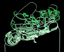 2006 Goldwing Motorcycle Acrylic Lighted Edge Lid Led Bike Sign / Light Up Plaque