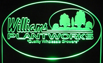 plants trees trophy award sample only business company logo acrylic lighted edge lit led sign