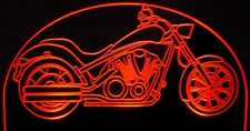 Motorcycle Acrylic Lighted Edge Lit LED Sign / Light Up Plaque Full Size USA Original