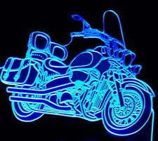 2003 Suzuki Motorcycle Acrylic Lighted Edge Lit LED Bike Sign / Light Up Plaque