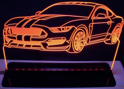 2016 Mustang GT350 GT 350 Acrylic Lighted Edge Lit LED Sign / Light Up Plaque Full Size USA Original