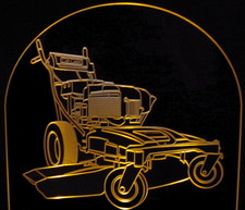Lawn Mower Yard Equipment Acrylic Lighted Edge Lit LED Sign / Light Up Plaque Full Size USA Original