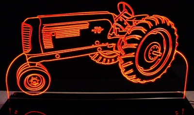 Tractor Oliver Farm Equipment Acrylic Lighted Edge Lit LED Sign / Light Up Plaque Full Size USA Original