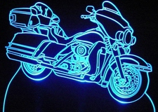 2003 Ultra Classic Motorcycle Acrylic Lighted Edge Lit LED Bike Sign / Light Up Plaque