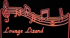 Music Scale Live Music Lounge Lizard Choose Your Text Acrylic Lighted Edge Lit LED Sign / Light Up Plaque Full Size Made in USA