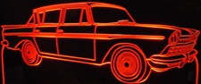 1960 AMC Rambler Acrylic Lighted Edge Lit LED Car Sign / Light Up Plaque