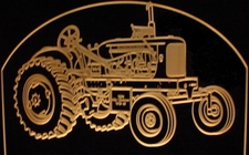 1954 Allis Chalmers Tractor Farm Equipment Acrylic Lighted Edge Lit LED Sign / Light Up Plaque  Full Size USA Original