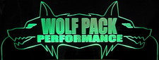 Wolf Business Company Logo Advertising Trophy Award SAMPLE ONLY (Design not for sale) Acrylic Lighted Edge Lit LED Sign / Light Up Plaque Full Size USA Original