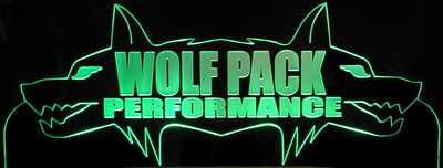Wolf Business Company Logo Advertising Trophy Award Acrylic Lighted Edge Lit LED Sign / Light Up Plaque Full Size USA Original