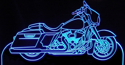 2011 Street Glide Motorcycle Acrylic Lighted Edge Lit LED Sign / Light Up Plaque Full Size Made in USA