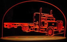 Semi Truck C Pro Business Company Logo SAMPLE ONLY Acrylic Lighted Edge Lit LED Sign / Light Up Plaque Full Size USA Original