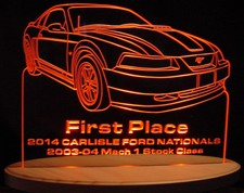 Trophy Award Carlisle Acrylic Lighted Edge Lit LED Sign / Light Up Plaque Full Size USA Original