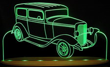 1932 Ford Acrylic Lighted Edge Lit LED Car Sign / Light Up Plaque