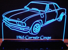 1965 Corvair Coupe Acrylic Lighted Edge Lit LED Car Sign / Light Up Plaque
