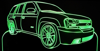 2007 Trailblazer SUV Acrylic Lighted Edge Lit LED Car Sign / Light Up PlaqueTruck