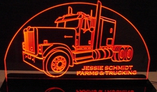 Semi IHC 9300 Truck Acrylic Lighted Edge Lit LED Sign / Light Up Plaque Full Size Made in USA