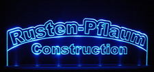 "Rusten SAMPLE ONLY Advertising Business Logo 21"" Large Acrylic Lighted Edge Lit LED Sign / Light Up Plaque"