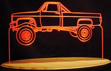 1984 Chevy Pickup Truck Acrylic Lighted Edge Lit LED Sign / Light Up Plaque