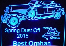 Spring Dust Off Best Orphan Trophy Award SAMPLE ONLY Acrylic Lighted Edge Lit LED Sign / Light Up Plaque Full Size USA Original