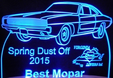 Spring Dust Off Best Mopar Acrylic Lighted Edge Lit LED Sign / Light Up Plaque Full Size Made in USA