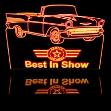 Spring Dust Off Best VA Chevy Lovers Trophy Award Acrylic Lighted Edge Lit LED Sign / Light Up Plaque Full Size USA Original