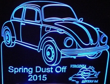 Spring Dust Off Best  Import VW Trophy Award SAMPLE ONLY Acrylic Lighted Edge Lit LED Sign / Light Up Plaque Full Size USA Original