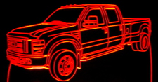 2008 Ford Pickup Truck F450 Acrylic Lighted Edge Lit LED Sign / Light Up Plaque Full Size USA Original