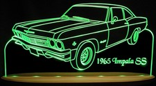 1965 Chevy Impala SS Acrylic Lighted Edge Lit LED Sign / Light Up Plaque Full Size USA Original