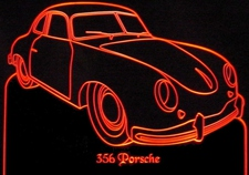 1953 Porsche 356 1500 Acrylic Lighted Edge Lit LED Sign / Light Up Plaque Full Size USA Original