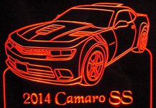 2014 Camaro SS Acrylic Lighted Edge Lit LED Sign / Light Up Plaque Full Size USA Original