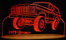 1979 Bronco Truck Acrylic Lighted Edge Lit LED Sign / Light Up Plaque Full Size USA Original