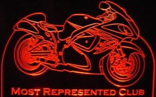 Trophy Award Motorcycle Alamo Bike Acrylic Lighted Edge Lit LED Sign / Light Up Plaque Full Size Made in USA