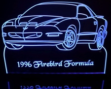 1996 Firebird Trans Am Formula Acrylic Lighted Edge Lit LED Sign / Light Up Plaque Full Size Made in USA