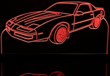 1989 Firebird Formula Acrylic Lighted Edge Lit LED Sign / Light Up Plaque Full Size Made in USA