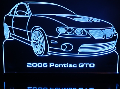 2006 GTO Acrylic Lighted Edge Lit LED Sign / Light Up Plaque Full Size USA Original