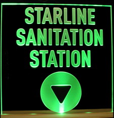 Company Logo Business Advertising Starline Acrylic Lighted Edge Lit LED Sign / Light Up Plaque Full Size USA Original