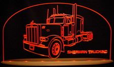 1998 Semi Peterbilt Truck Company Business Logo Acrylic Lighted Edge Lit LED Sign / Light Up Plaque Full Size USA Original