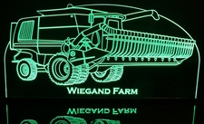 Combine JD Farm Equipment Acrylic Lighted Edge Lit LED Sign / Light Up Plaque Full Size Made in USA