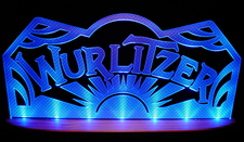 "Wurlitzer Business Company Logo 21"" ONLY Acrylic Lighted Edge Lit LED Sign / Light Up Plaque Full Size USA Original"