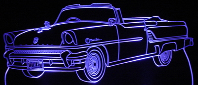 1955 Mercury Montclair Convertible Acrylic Lighted Edge Lit LED Car Sign / Light Up Plaque