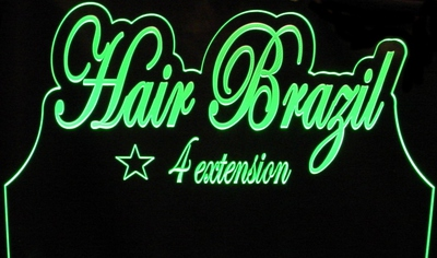 Company Logo Business Advertising Hair Acrylic Lighted Edge Lit LED Sign / Light Up Plaque Full Size Made in USA