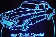 1951 Buick Special Acrylic Lighted Edge Lit LED Car Sign / Light Up Plaque