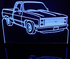 1984 Chevy Pickup Truck C10 Acrylic Lighted Edge Lit LED Sign / Light Up Plaque Full Size Made in USA
