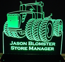Tractor 506 (add your own text) Acrylic Lighted Edge Lit LED Sign / Light Up Plaque Full Size Made in USA