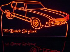 1972 Buick Skylark Acrylic Lighted Edge Lit LED Car Sign / Light Up Plaque